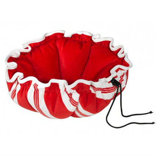 Candy Cane Striped Buttercup Nest Pet Bed