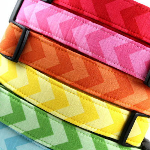 Chevron Designer Dog Collar & Leash
