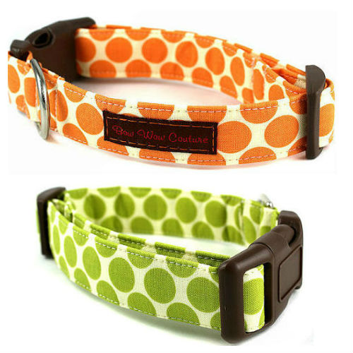 Fresh Dots Designer Dog Collar & Leash