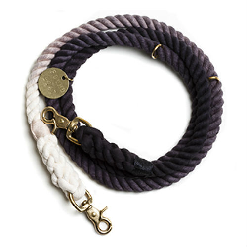 Adjustable Rope Leash - Black Ombre