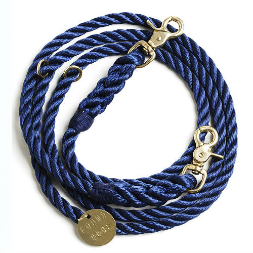 Adjustable Rope Leash - Navy