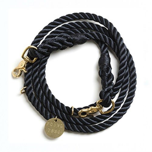 Adjustable Rope Leash - Black