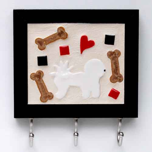 Custom Tile Leash Hook / Bichon