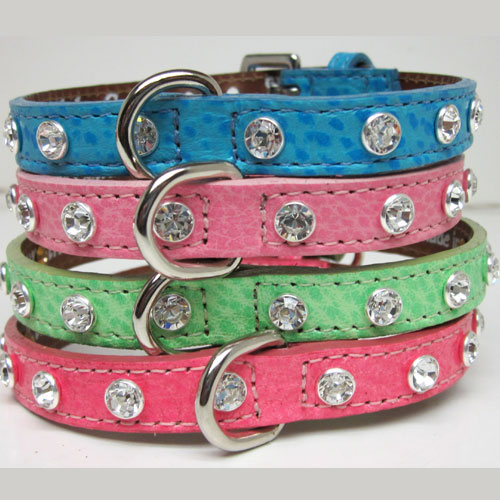 Single Bling Leather Collars