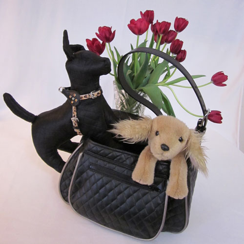 Quilted Messenger-Style Dog Carrier