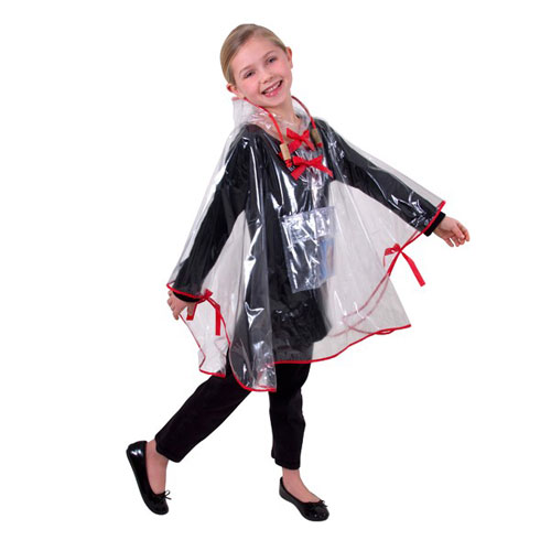 Kids Clear Rain Poncho