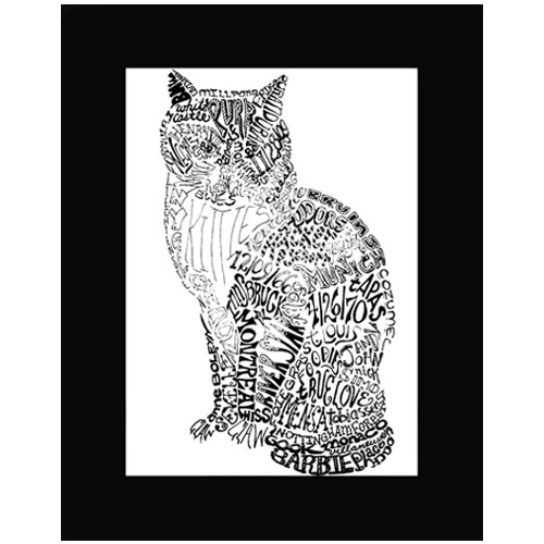 Personalized Cat Pen & Ink Drawing