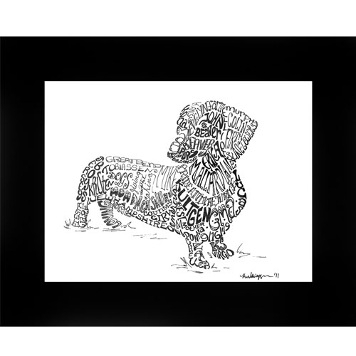 Personalized Dog Breed Pen & Ink Drawing