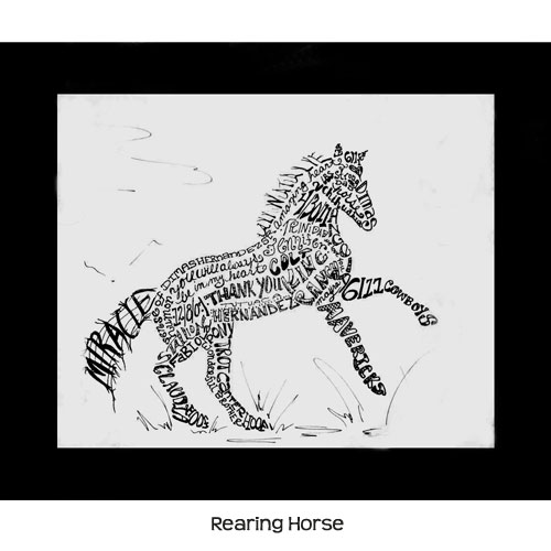 Personalized Horse Pen & Ink Drawing