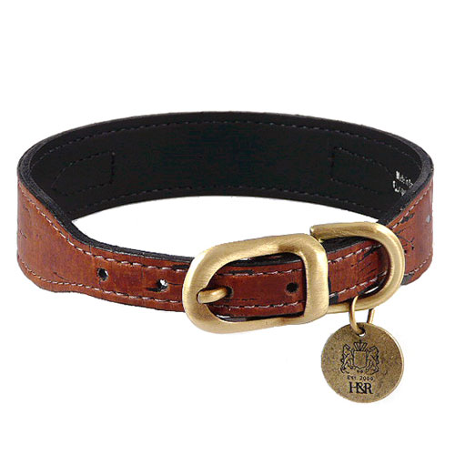 Cork Collar & Leash In Burnt Umber