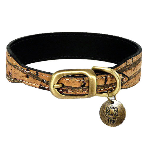 Cork Collar & Leash In Pewter Stripe
