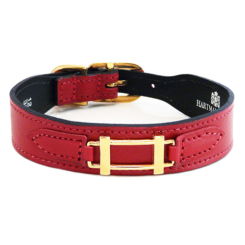 Hermes-Style Collar & Leash Ferrari Red
