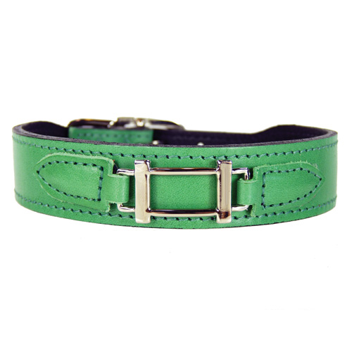 Hermes-Style Collar & Leash Kelly Green