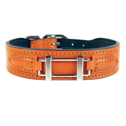 Hermes-Style Collar & Leash Tangerine