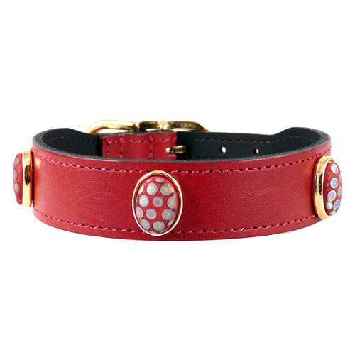 Peacock Collar & Leash Ferrari Red