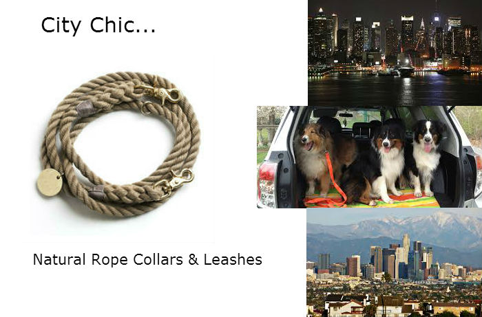 Natural Rope Dog Collars & Leashes