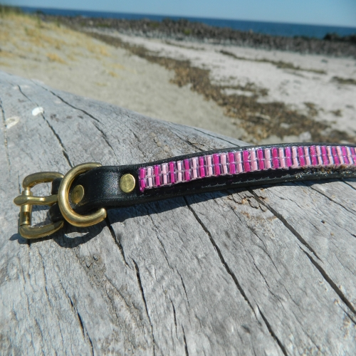 Beaded Cotton Candy Collar & Leash