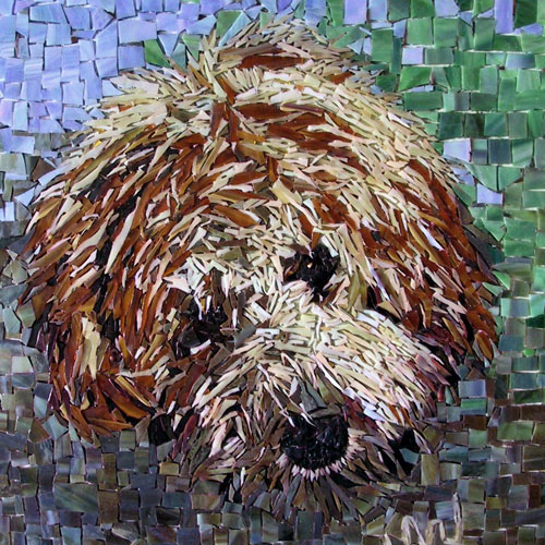 Custom Stained Glass Mosiac Pet Portraits
