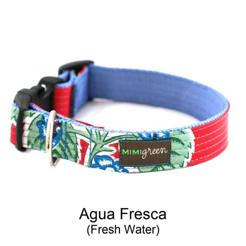 Aqua Fresca Oilcloth Collar & Leash