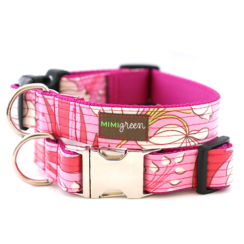 Laminated Dog Collar & Leash Blossom