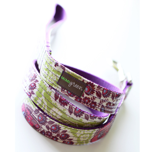 Laminated Dog Collar & Leash Petunia
