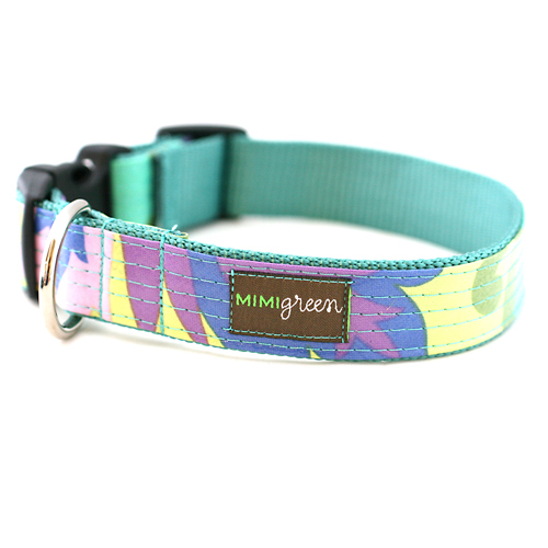 Laminated Dog Collar & Leash Willow