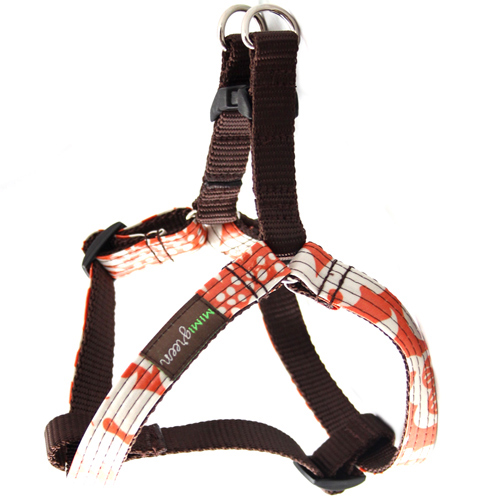 Marigold Laminated Dog Harness & Leash