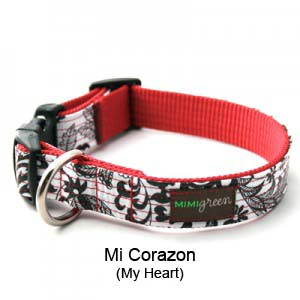 Mi Corazon Oilcloth Collar & Leash