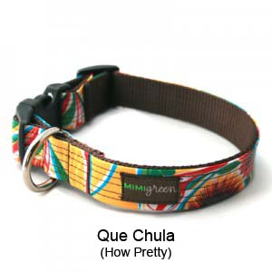 Que Chula Oilcloth Collar & Leash