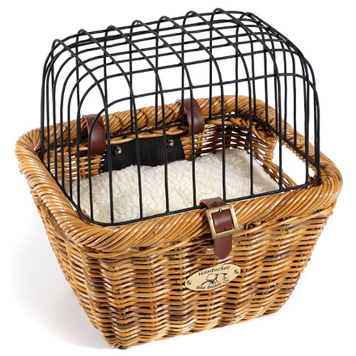 Rattan Pet Bike Basket
