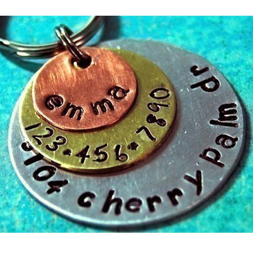 Multi-Metal Triple Layered Pet ID Tag