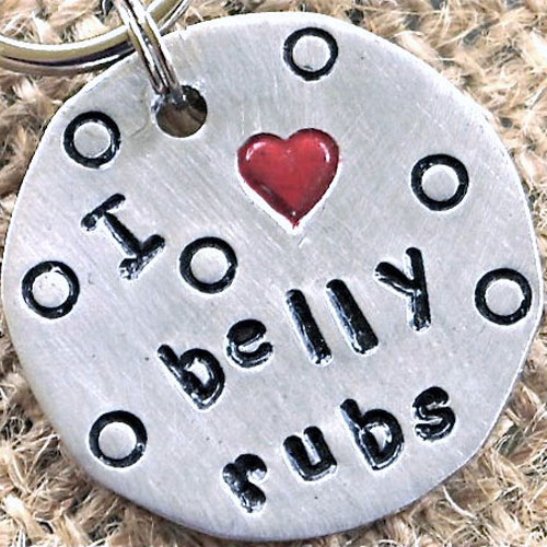 I Love Belly Rubs Pet ID Tag