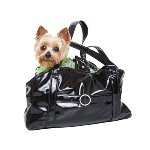 Dream Pet Carrier-Black Patent