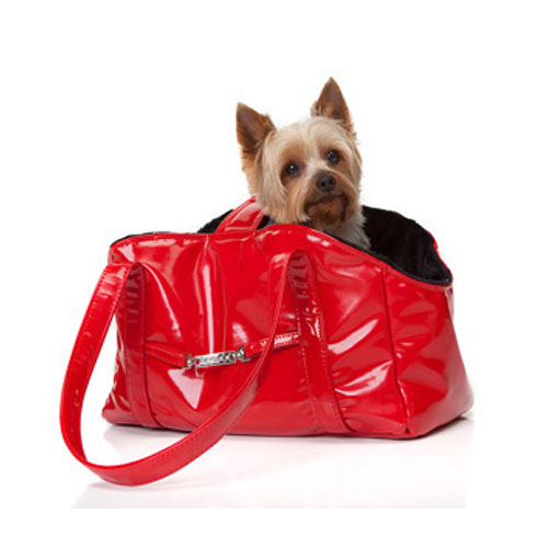 Dream Pet Carrier-Red Patent