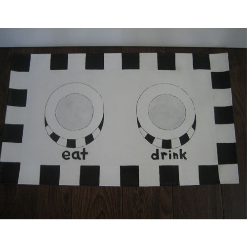 Oilcloth Pet Dining Mats in 4 Colors