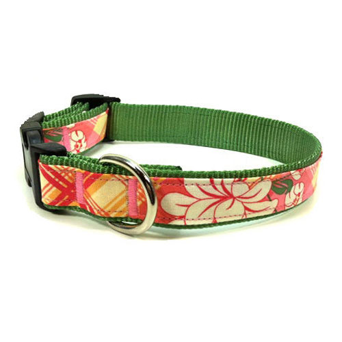 Peony Plaid Collar & Leash