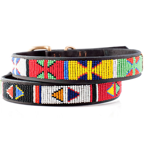 Beaded Dog Collar- Primary