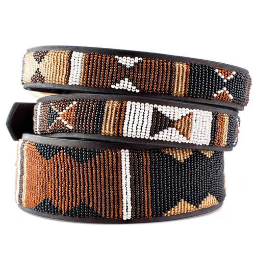 Beaded Dog Collar-Earth