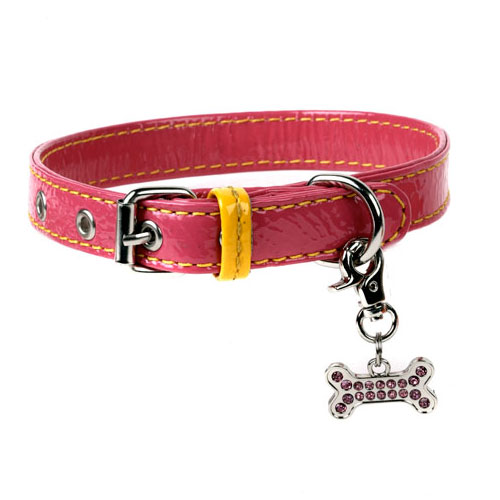 Patent Leather Dog Collars & Leashes in 5 Great Colors