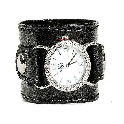 """Pupercise"" Wrist-Watch Cuff / Clips-To-Leash / Black"