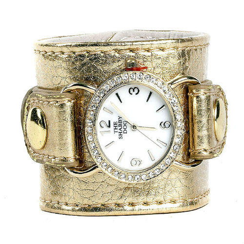"""Pupercise"" Wrist-Watch Cuff / Clips-To-Leash / Gold"